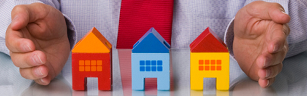 Multi-colored Toy Homes represent various mortgage
